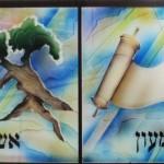 שניים עשר השבטים בהתזת חול