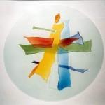 תקרה אומנותית מזכוכית צבעונית