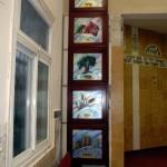 ויטראז צבעוני לחלון בית הכנסת